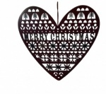 Gisela Graham Christmas Decoration - Merry Christmas Heart