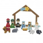 Heaven Sends Boxed Wooden Nativity Set