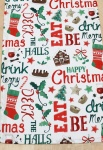 Peggy Wilkins Christmas Table Runner - Eat, Drink, Be Merry