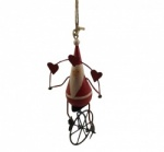 Shoeless Joe Father Christmas on a Unicycle Tree Decoration