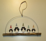 Shoeless Joe Christmas Decoration - Penguins On Driftwood