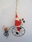 Shoeless Joe Christmas Tree Decoration Santa on Penny Farthing Bike