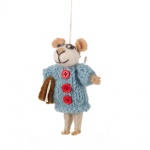 Felt So Good Susie Mouse Hanging Christmas Decoration