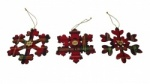 Gisela Graham Tartan Snowflake Tree Decorations