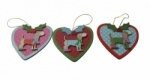 Gisela Graham Set of 3 Party Dog Decorations