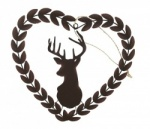 Shoeless Joe Rustic Stags Head Heart Wreath