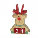 Heaven Sends Moose Countdown Christmas Perpetual Calendar