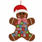 Widdop Gifts Christmas Gingerbread Man Advent Calendar