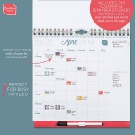 Boxclever Press Family Weekly Planner Calendar 2019