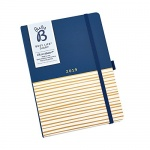 Busy B Busy Life Diary 2019 - Navy and Gold Striped Design