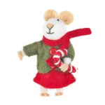 Felt So Good Christmas Mouse Cute Christmas Tree Decoration[1]