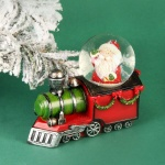 Christmas Snow Globe Decoration Santa In A Train