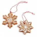 Heaven Sends Gingerbread Snowflake Christmas Tree Decorations