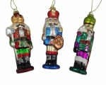 Gisela Graham Glass Nutcracker Christmas Tree Decorations