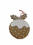 Gisela Graham Gingerbread Style Christmas Pudding Decoration