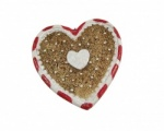 Gisela Graham Gingerbread Style Heart Shaped Christmas Tree Decoration