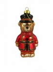 Gisela Graham Glass Beefeater Christmas Tree Decoration