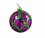 Gisela Graham Shiny Peacock Glass Bauble
