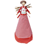 Gisela Graham Gingham Christmas Angel Tree Topper