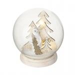 Heaven Sends Light Up Glass Snow Globe with Bear Scene