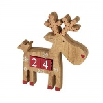 Heaven Sends Reindeer Wooden Christmas Countdown Calendar