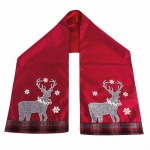 Heaven Sends Tartan Reindeer Table Runner