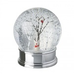 Heaven Sends Cute Mouse With Antlers Christmas Snow Globe