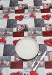 Peggy Wilkins Pvc Tablecloth - Alpine Hearts