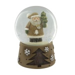 Christmas Snowglobe Decoration Featuring Cute Santa