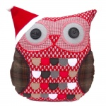Christmas Style Red Owl Cushion