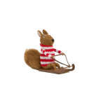 Sass and Belle Felt Sledging Squirrel Christmas Decoration