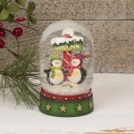 Cute Penguin Dome Shaped Snowglobe Decoration
