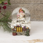LED Christmas Snowglobe Featuring Father Christmas
