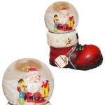 Father Christmas in a Boot Christmas Snow Globe