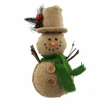 Widdop Gifts Hessian Snowman Christmas Tree Decoration