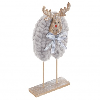 Tobs Reindeer with Wool Coat Home Christmas Decoration