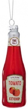 Sass & Belle Hanging Ketchup Bottle Christmas Bauble