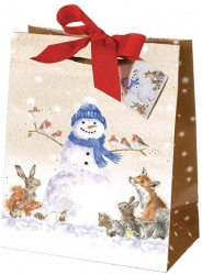 Wrendale Designs Snowman Christmas Gift Bag